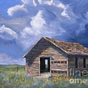 Prairie Church Art Print by Jerry McElroy