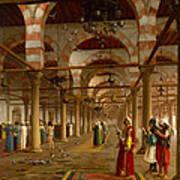 Prayer In The Mosque Art Print