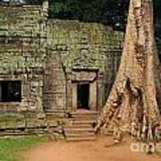 Preah Khantemple At Angkor Wat Art Print