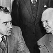 President Eisenhower And Nixon Art Print