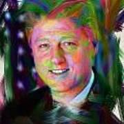 President William J. Clinton Art Print