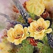 Prickly Pear In Bloom Art Print