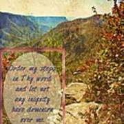 Psalm 119 133 Art Print