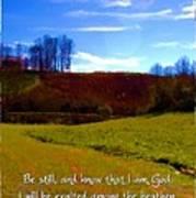 Psalm 46 10 Art Print