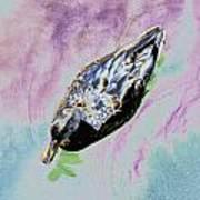 Psychedelic Mallard Duck 2 Art Print