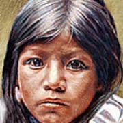 Pueblo Girl Art Print