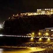 Puerto De La Cruz By Night Art Print