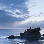 Pura Tanah Lot Temple At Sunset In Bali  Art Print