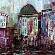 Purple City Art Print
