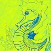 Q-t The Purdiest Seahorse Art Print