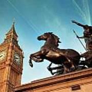 Queen Bodica Statue In London Art Print