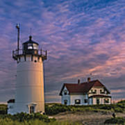Race Point Lighthouse Sunset Art Print