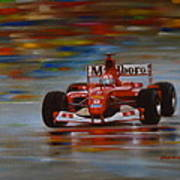 Racing Car Art Print