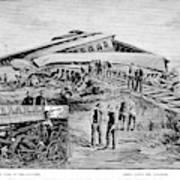 Railroad Accident, 1887 Art Print