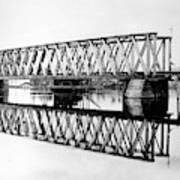 Railroad Bridge Red River Art Print