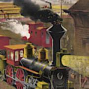 Railroad Junction, C1876 Art Print
