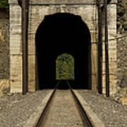 Railroad Tunnel 3 Bnsf 1 B Art Print
