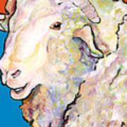 Rainbow Ram Art Print