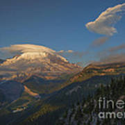 Rainier Capped Art Print