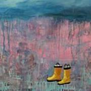 Rainy Day Galoshes Art Print