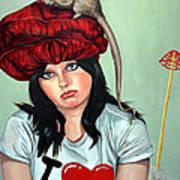 Rat Hat Art Print by Shelley Laffal