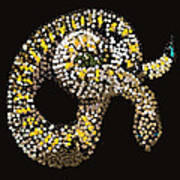 Rattlesnake Bedazzled Art Print