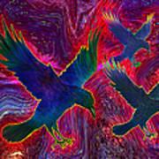 Raven On Red Art Print