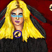 Raven Yellow Hair Art Print