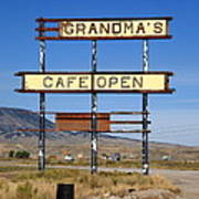 Rawlins Wyoming - Grandma's Cafe Art Print