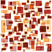 Red Abstract Rectangles Art Print by Frank Tschakert