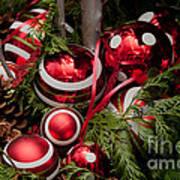 Red Christmas Balls Art Print