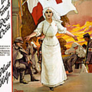 Red Cross Poster, 1915 Art Print