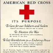Red Cross Poster, 1917 Art Print