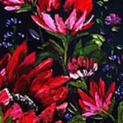 Red Flowers Art Print by Shirwan Ahmed