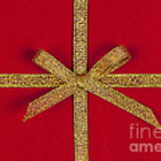 Red Gift With Gold Ribbon Art Print by Elena Elisseeva