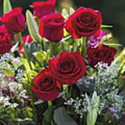 Red Rose Romance Art Print