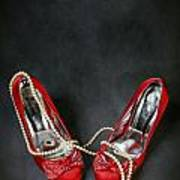 Red Shoes Print by Joana Kruse
