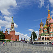 Red Square Art Print