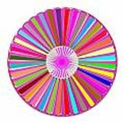 Colorful Signature Art Chakra Round Mandala By Navinjoshi At Fineartamerica.com Rare Fineart Images  Art Print by Navin Joshi