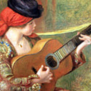 Renoir's Young Spanish Woman With A Guitar Art Print