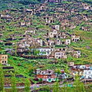 Residents Moved From Homes In Cliffs To Homes Below In 1951 In Cappadocia-turkey Art Print