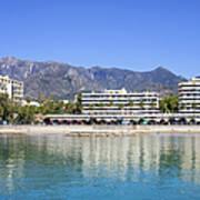 Resort City Of Marbella In Spain Art Print