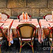Restaurant Patio In France Art Print
