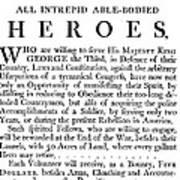 Revolutionary War Poster Art Print