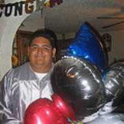 Ricardo Celebrating His High School Graduation Eloy Arizona 2002 Art Print