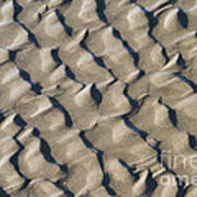 Ripple Pattern On Mudflat At Low Tide Art Print