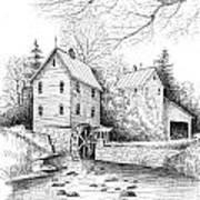 River Mill Art Print