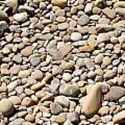 River Rocks Pebbles Art Print