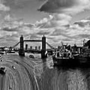 River Thames Waterfall Art Print