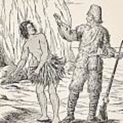 Robinson Crusoe And Friday Art Print